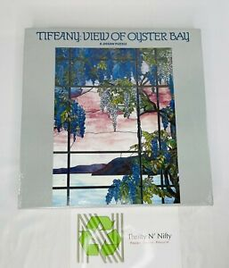 """Jigsaw Puzzle Tiffany Stain Glass View of Oyster Bay 551 Pieces 18"""" x 24"""" PS !!!"""