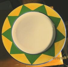 Made in Italy ~ Ceramic Chop Plate/Charger ~ Handpainted Border Yellow and Green
