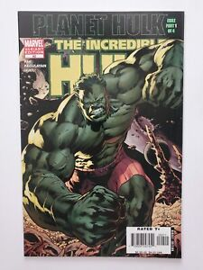 INCREDIBLE HULK #92 (VF+) 2006 PLANET HULK; VARIANT COVER