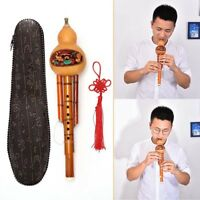 Chinese Hulusi Gourd Cucurbit Flute Ethnic Musical Instrument Key Of C With CaME