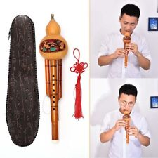 Chinese Hulusi Gourd Cucurbit Flute Ethnic Musical Instrument Key Of C With CN