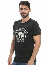 Jack & Jones Men's Jorraffa Tee Ss Crew Neck Noos T-Shirt.  Size: Medium. Black