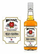 JB - Personalised Bottle Label - Merry Christmas (Set 2) 10.5cm x 7.4cm