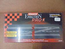 Carrera 30306 Evolution PRO-X Weiche ,links zum Überholen, 2 Schienenstücke