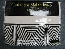 Catherine Malandrino Optic Blk/Ivory Full/Queen Duvet Cover -Ivory- Brand New