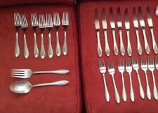 oneida stainless flatware jackson mixed lot of 49 pieces