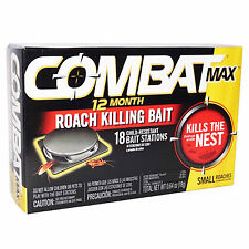 Combat MAX 12 Month 18 ROACH KILLING BAIT STATION Kills The Nest Kills in Hours