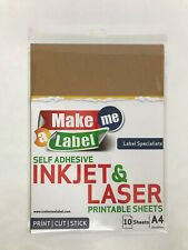 Dark Brown Kraft Paper A4 Self Adhesive Sticky Sticker Labels Inkjet Laser