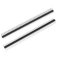 Right Angle Header Pin 40p 1 Row 2mm Pitch Silver Tone Pin For Prototyping 20pcs