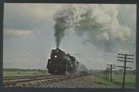 Canadian National Train Montreal Quebec Canada Railroad Postcard CNR Steam