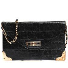 Croc Sling Turnlock Bag Black Kardashian Kollection
