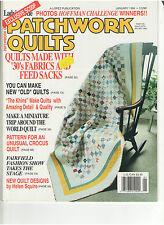 PATCHWORK QUILTS MAGAZINE JAN 1994 FEED SACKS 1930 FABRICS PATTERN FOR CROCUS