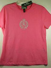 Lauren Ralph Lauren Active Womens 100% Cotton Hot Pink Short Sleeve Top NWT L
