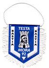 FANION football TISSU WIMPEL PENNANT TESTA MORA 92 BASTIA VINTAGE COLLECTOR