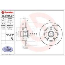 2 Disque de frein BREMBO 08.B391.27 BEARING DISC LINE convient à RENAULT