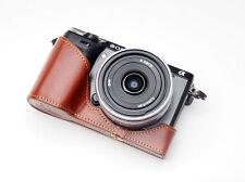 Handmade Vintage Mezza Pelle caso fotocamera per Sony NEX7 Nero e Marrone 2 COLORI