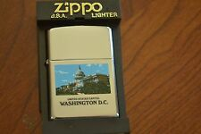 ZIPPO Lighter, U.S. Capitol Building, Hi-Polish Chrome, 2001, Sealed, M1210