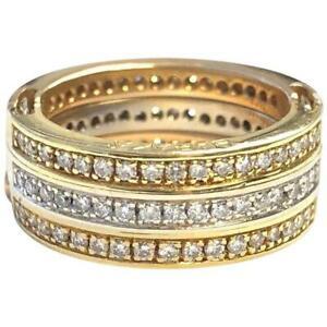 Baraka 18K Tri Color Gold Diamond Convertible Band Ring