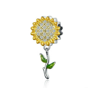 New European Silver Cz Charm Crystal Beads Fit Necklace Bracelet Chain Diy J074