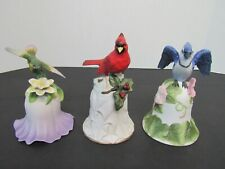 New Listing3 Avon Collectible Porcelain Bells 2000 Hummingbird, 2000 Cardinal, 2001 Bluejay
