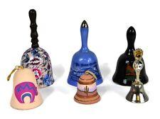 Six Porcelain Ceramic Bells City State Desert Dutch Country Floral & Sandstone