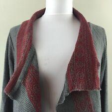 Lo. Ri. Italy Wool Blend Drape Sweater Medium Women's Grey