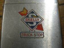 1971 Vintage SKELLY Truck Stop Used ZIPPO Cigarette Lighter