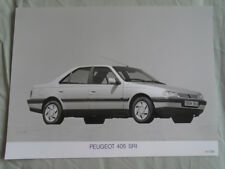 PEUGEOT 405 SRI Press Photo brochure 1991
