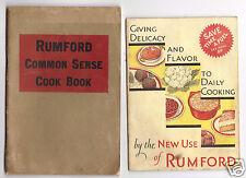 2 Rumford Baking Powder Booklets-Common Sense & New Use of Rumford