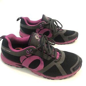 Pearl Izumi Womens Trail W Peak II Running  Shoes Black Purple Sz 9 Rarely Worn