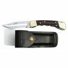 "Buck Folding Hunter Knife BU110FG Finger Groove 4 7/8"" Lockback Blade 110FG New"