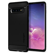 Galaxy S10, S10 Plus, S10e Spigen® [Rugged Armor] Black Shockproof Case Cover