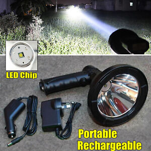 Tracer Handheld Hunting Spot Light Rechargable Lamp Sport Dual Charger 500m Beam