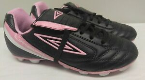 NWOT Umbro Corsica Revolution Girls' Soccer Cleats Shoes Black Pink Sz Y 2.5 NEW