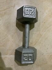CAP Barbell Cast Iron Hex Dumbbell 20 Pound lb