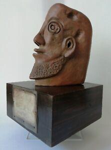 Art Moderne Sculpture en terre cuite L'HOMME HORS DU TEMPS signée DE FIORE 72