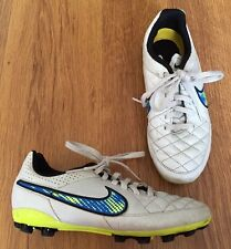 Nike Tiempo Leather Astro Turf Artificial Grass Football Boots Youths Uk 13.5