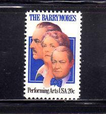ESTADOS UNIDOS/USA 1982 MNH SC.2012 The Barrymores