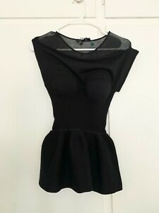 Alexander Wang black sweater top, size:M