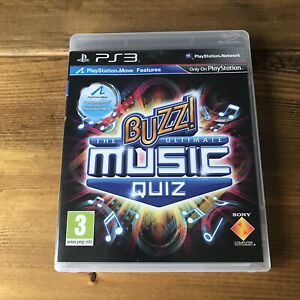 BUZZ! THE ULTIMATE MUSIC QUIZ  PS3  SONY PLAYSTATION 3 GAME ONLY - BUZZ REQUIRED