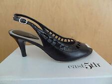 East 5th Womens Liza Slingback Pumps Heels Peeptoe Black Size 8 M $45 Mint w/box