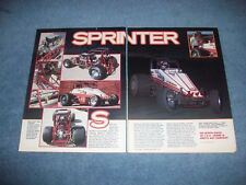 "1986 Wirth/Davis Wingless Sprint Car Vintage Article ""Sprinter"" C.R.A."