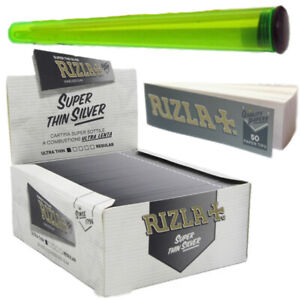 RIZLA SILVER KING SIZE WITH RIZLA TIP ROACH AND CONE HOLDER