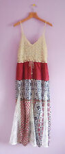 J Gee Maxi Dress M Petite NWT Boho Chic Crochet Overlay Bodice Lace Inset Skirt