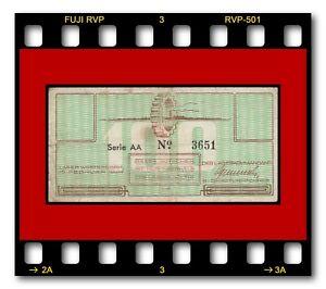 NETHERLANDS LAGER WESTERBORK GUTSCHEIN 1944 100 CENT JUDAICA JEWISH CAMP MONEY