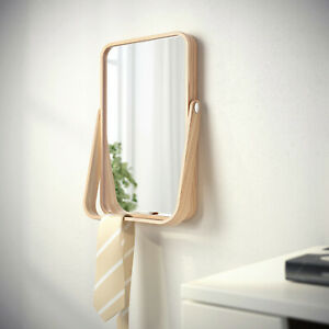 Mirror Ash Wood Make-Up Frisiertspiege Kosmetiktspiegel Table Mirror 27x40