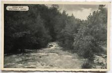 Vintage postcard Scene Near Weatherly Pa. creek Silvercraft unused