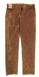 MURANO Men's Velvet Flat Front Casual Pants. 32/34  (Tabaco) NEW With Tag