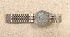 Vintage Activa Silver Tone Watch Glow in the Dark Dial   Repair   FREE SHIPPING
