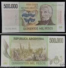 ARGENTINA 500000 PESOS BANKNOTE 1980 UNC